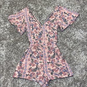 O'Neill floral and tribe print romper!